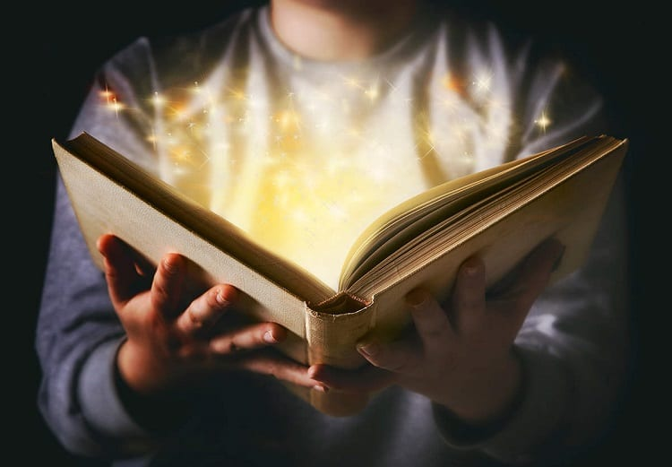 Holding Magic Book